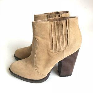 Zara• Beige Heel Boots